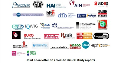 Open letter access clinical study reports